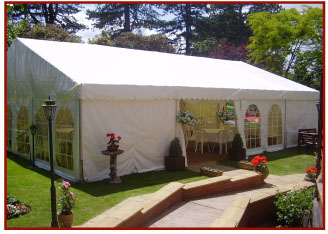 Clearspan marquee 9m x 12m